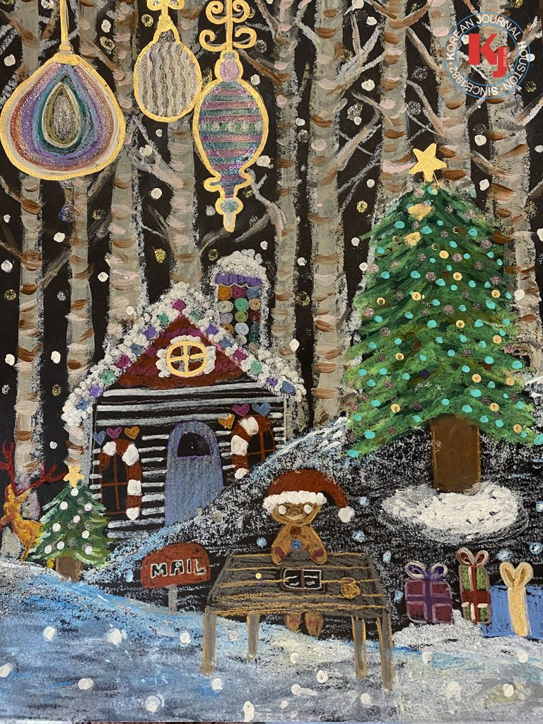 """WINTER VILLAGE""  by  Irene Kim       3rd Grade   Larkspur Elementary School"