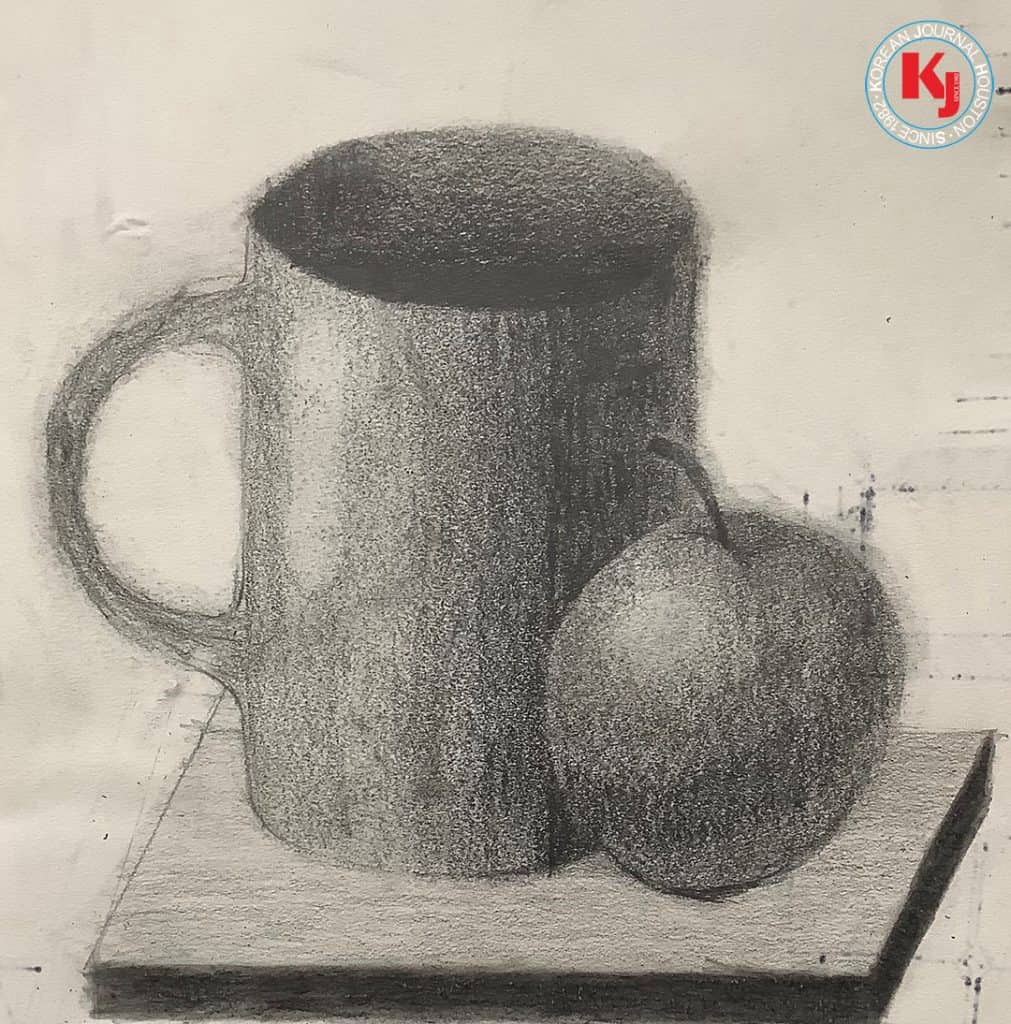 """""""STILL LIFE I""""  by  Hyunseong Jin6th Grade   Creek Valley Middle School"""
